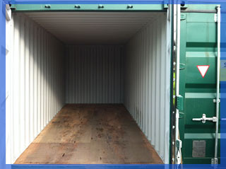 secure storage in containers at Havant Lorry Park Portsmouth